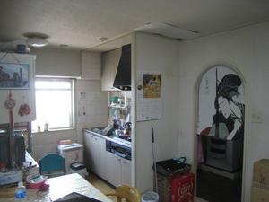 高田邸 キッチン前