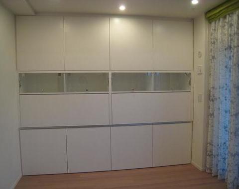 成増のマンションで壁面収納のオーダー家具サムネイル