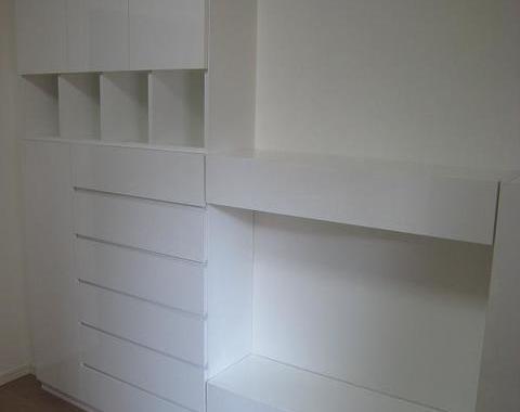 東日暮里の新築マンションで壁面収納のオーダー家具サムネイル