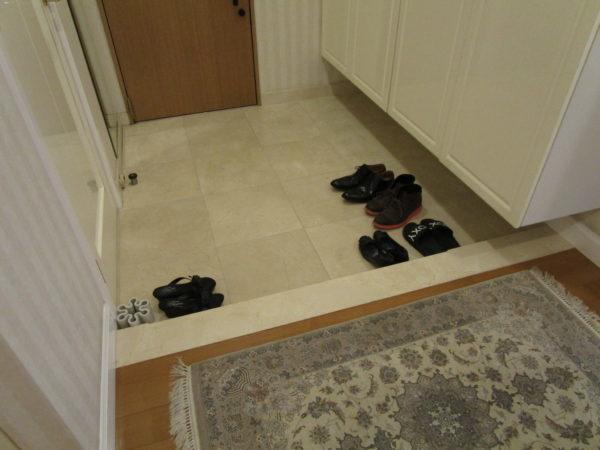 玄関床の大理石磨きサムネイル