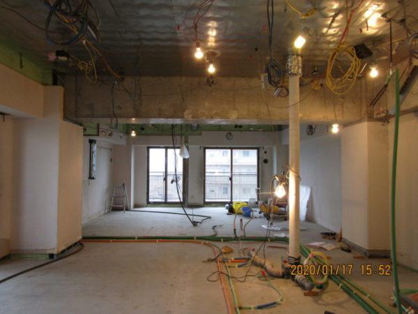 市川市のタワーマンションでスケルトンリフォーム開始サムネイル