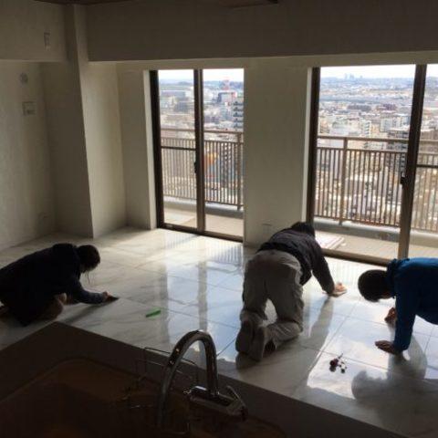 市川市のタワーマンションの工事終了サムネイル